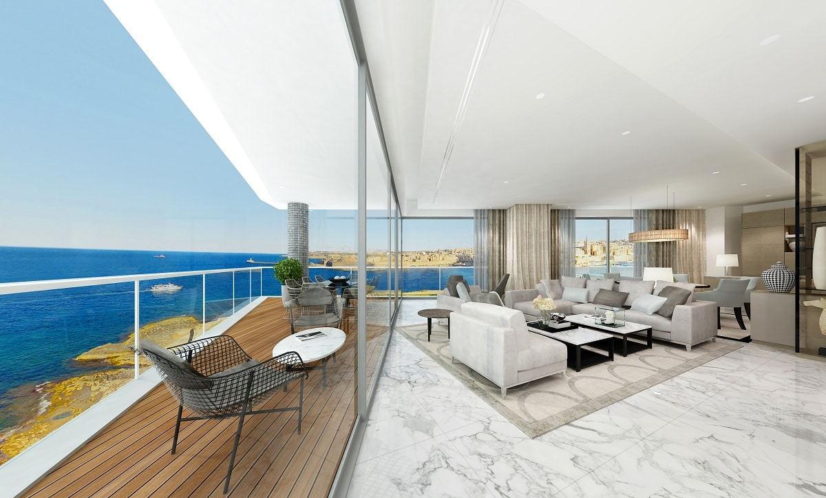 MIDI building new Seafront Apartments at Tigné Point
