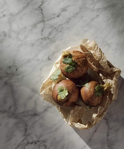 Chophouse at Tigne Point - onion bhaji doughnuts